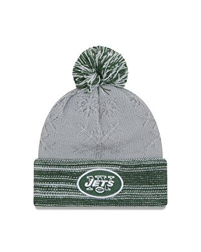 NFL New York Jets Women's Snow Crown Redux Knit Beanie, One Size, Gray
