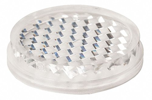 White/clear Flat Reflector, Plastic, For Use With Retroreflective Sensors - Pack of 5