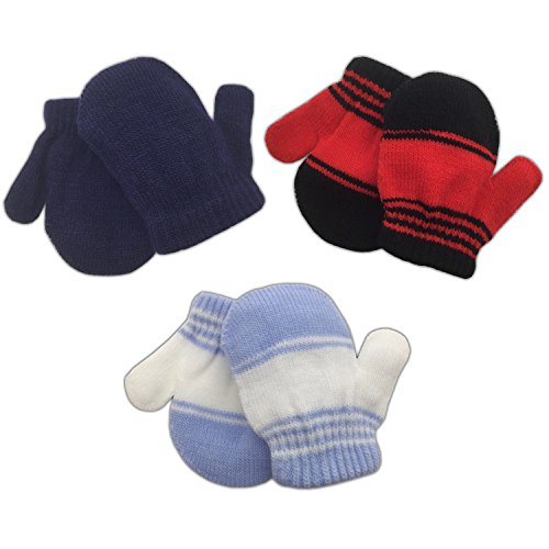 3-pack-infant-baby-boys-mittens-warm-knitted-for-winter-navy-red-stripe-blue-stripe