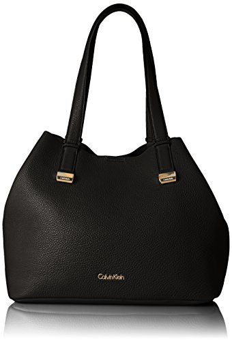 Calvin Klein Fashion Tote, Black/Gold
