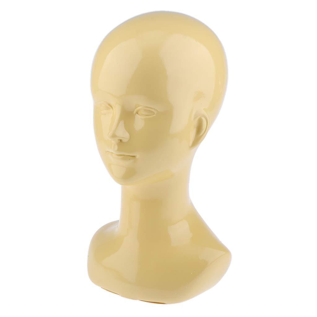 Female Head Model Stand Mannequin Manikin Hair Glasses Hat Display Hold Sky Blue