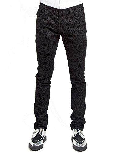 tripp-gothic-black-damask-flocking-trousers-jeans-pants-32