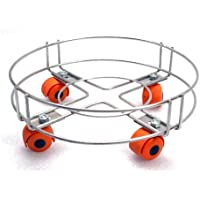 JACE EXPORT Gas Cylinder Trolley with Rollers, Stainless Steel
