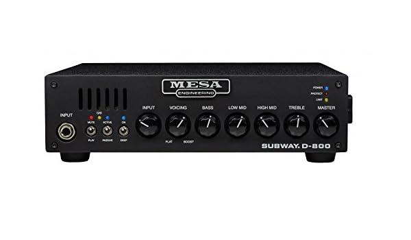 Mesa Boogie Subway D-800 · Cabezal bajo: Amazon.es: Instrumentos ...