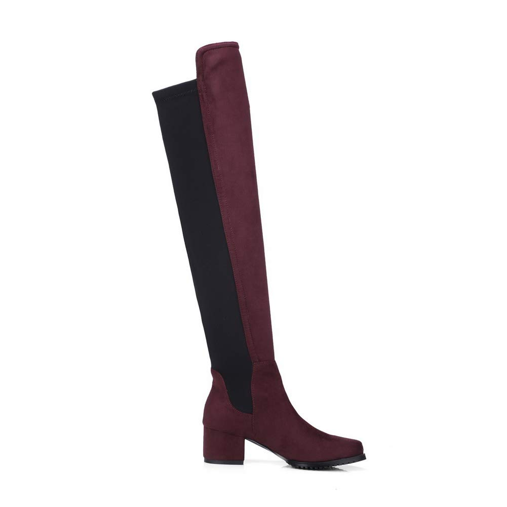 1TO9 Womens Square Heels Assorted Colors Imitated Suede Boots MNS03296
