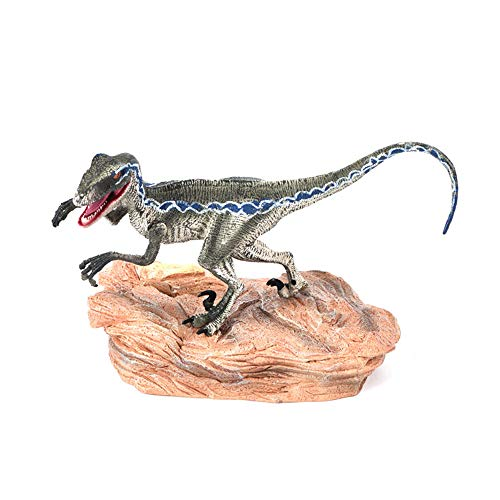 callm Velociraptor Model Toy,Blue Velociraptor Dinosaur Action Figure Animal Model Toy Collector Cure Fun Gifts Decor for Kids Adults (B) from callm