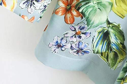 Verdes Estampados Feminino S Florales Mujeres Blazer WJMM Femeninos con Blazers Americana Mujer Florales Feminina Cinturón Longa Blazers wIqSCY
