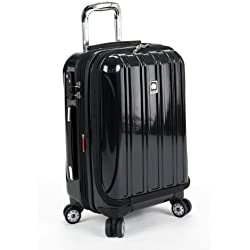 Delsey Luggage Helium Aero International Carry On Expandable Spinner Trolley (One Size, Black)