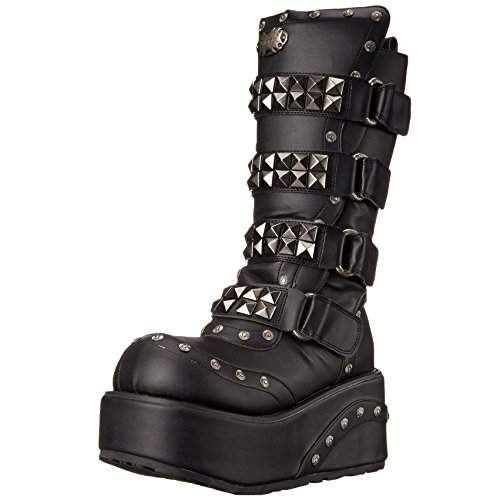 Mens 3 1/4 Wedge Boots Calf Boots Studs Pyramid Hardware Gothic MENS SIZING Size: 8 by Summitfashions