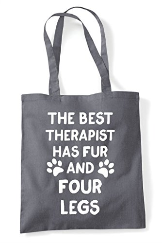 Best Themed Has Tote Shopper Animal Four And Bag Dark Funny Therapist Grey Fur Cute Legs The Awd1q1