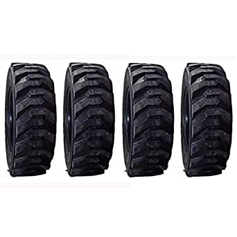 (4) Heavy Duty 10-16.5 Skid Steer Tires 10 Ply fits Bobcat Gehl Deere Cat