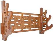 Weapon Rack Sword Stand Wall Mount Samurai Sword Display Stand Sword Holder Hollow Classical Wordless Display