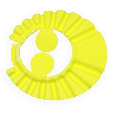 JIALEEY Leak Proof Baby Bath Visor Safe Shampoo Shower Bathing Protection Bath Cap Soft Adjustable Visor Hat for Baby, Toddler, Kids