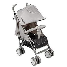 Cochecito de paseo de bebé color gris