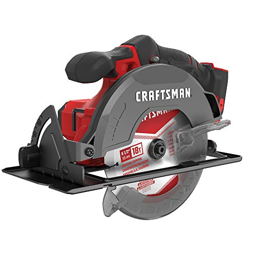 CRAFTSMAN V20 6-1 2-Inch Cordless Circular Saw, Tool Only CMCS500B