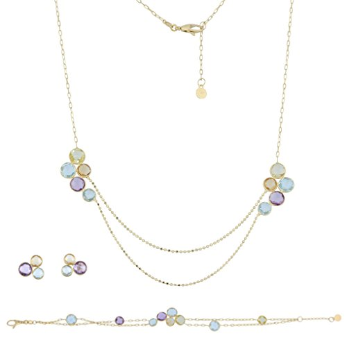 Yellow gold set with natural stones - Gioiello Italiano by Gioiello Italiano