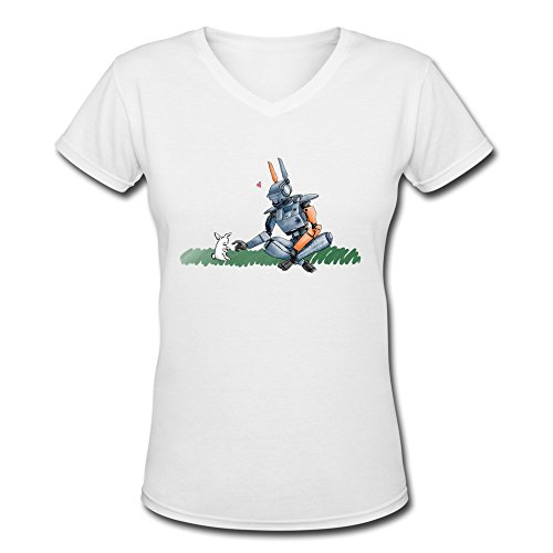 [AOPO Chappie 2015 Film V-Neck Short Sleeve T Shirt For Women Small] (Book Week Costumes For Sale)