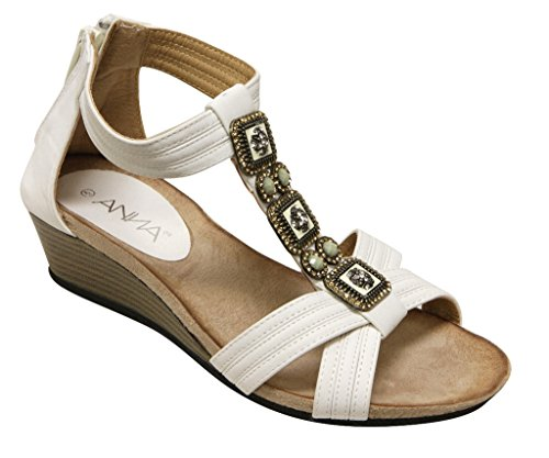 Anna Beth-1 Women's Open Toe Cross Banding Vintage Decor T-S