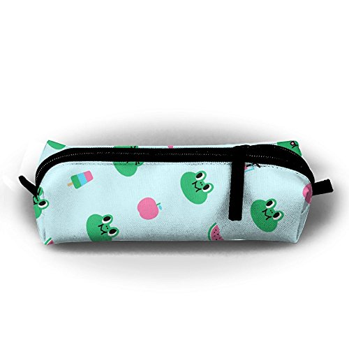Portable Travel Prince Frog Large Make Up Cosmetic Bag Pen Stationery Storage Clutch Bag