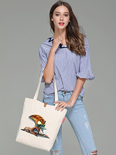 So'each Women's Octopus Art Pattern Graphic Top Handle Canvas Tote Shopping Bag