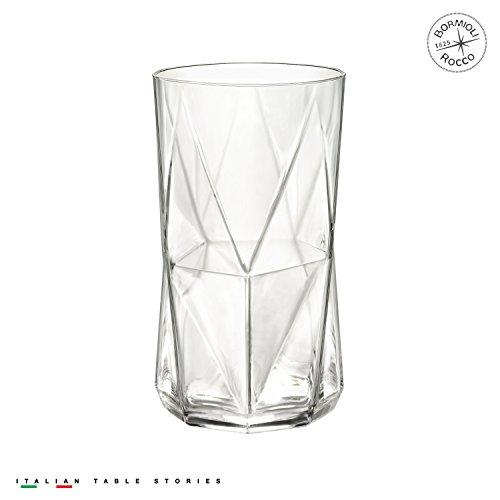 - Bormioli Rocco 234530G10021990 Cassiopea 16.25 oz. Cooler Glass, Set of 4, Clear