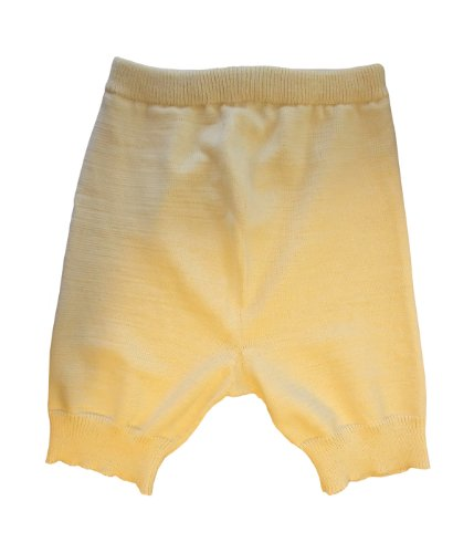 Merino wool adult cloth diaper cover soaker shorts knit (XL, Natural white) by tevirP