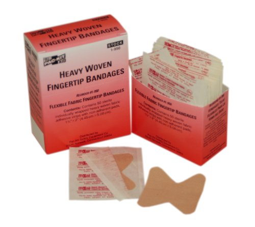 Pac-Kit by First Aid Only 1-950 Woven Fingertip Bandage (Box of 50) -