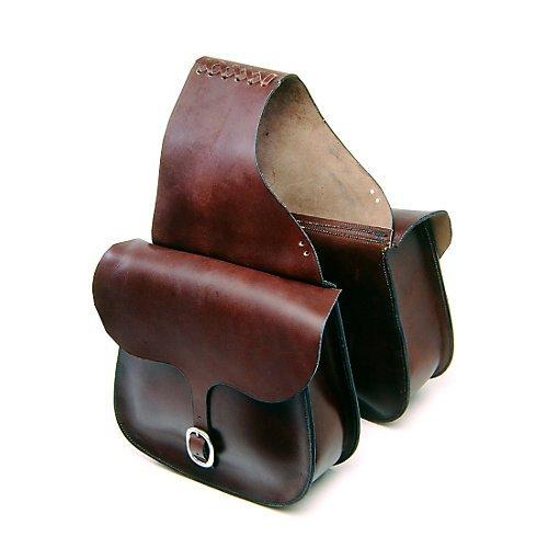 Dark Oil Leather (Tough 1 Tough-1 Leather Saddle Bag, Dark Oil Plain)