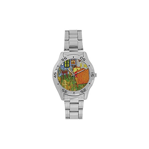 Fathers/Boyfriends Gifts Vincent Van Gogh Paintings Men's Stainless Steel Analog Watch]()