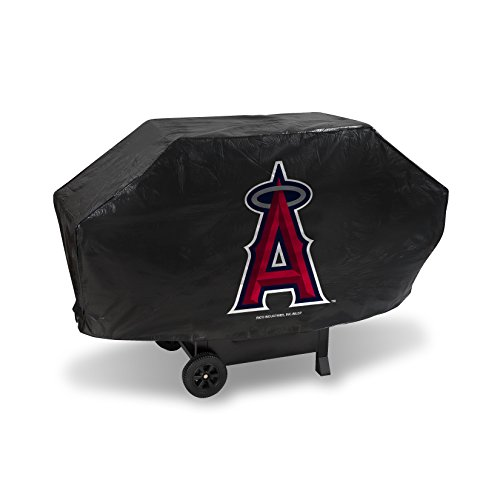 (Rico Industries MLB Los Angeles Angels Deluxe Grill Cover, Black, 68 x 21 x 35)