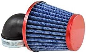 Motodak Filtre a air tunr d28-35 Conique KN gm coude 90/° Rouge
