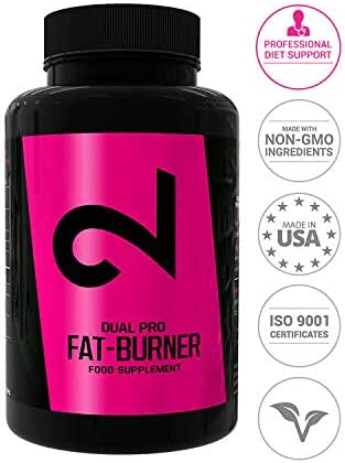 Dual Pro Fat-Burner | Fatburner Pills for Men and Women | 100 Vegan Caps | Weight Loss Without Sports | Natural Appetite Suppressant |Extremely Strong Dietary Supplement|Without Additives|Made in USA