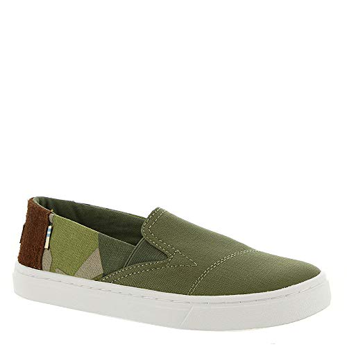 TOMS Youth Luca Nylon Slip-On, Size: 1.5 M US Little Kid, Color: Burnt OLV Nl Ripstop/Camo