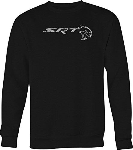 Lifestyle Graphix Distress SRT Hellcat Mopar Charger Challenger Racing Crewneck Shirt - Medium ()
