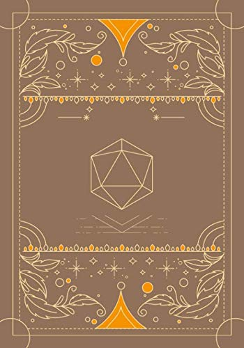 RPG journal: Mixed paper: Ruled, graph, hex: For role playing gamers: Notes, tracking, mapping, terrain plans: Vintage neutral and orange dice deco cover design