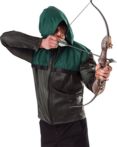Green Arrow Tv Show Costume - Green Arrow's Bow and Arrow Costume Accessory (Officially Licensed) (Browns)