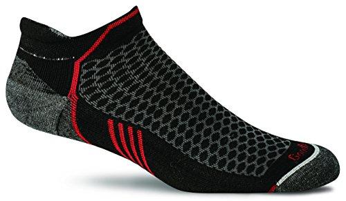 Sockwell Mens Incline Inspire Athletic No Show Micro Socks  Black  Medium Large
