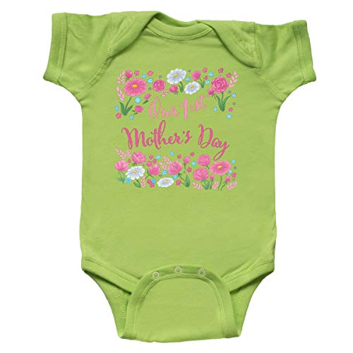 inktastic - Our First Mother's Day-Roses Infant Creeper 24 Months Key Lime -