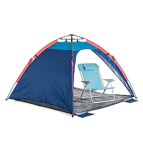 Sumbertrek Economical Lightweight and Convenient Outdoor Auto Ezee Sun Shelter in Blue, Water Resistant, Measures 78.6'' W x 78.6'' L x 51.09'' H