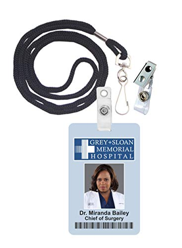 Miranda Bailey, Grey's Anatomy Novelty ID Badge Film Prop for Costume and Cosplay • Halloween and Party Accessories -