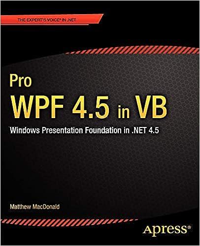Pro WPF 4 5 in VB: Windows Presentation Foundation in  NET