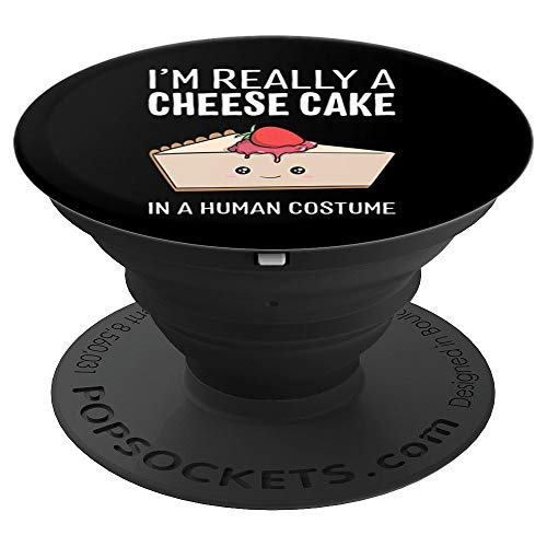 I'm Really A Cheesecake In A Human Costume Halloween Funny PopSockets Grip and Stand for Phones and Tablets -