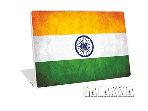 Galaxsia Grunge Indian Flag Laptop Notebook Vinyl Skin Sticker Cover Art Decal Protector Cover Case for 11.6   15.6  Inch
