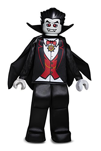 Disguise Lego Vampire Prestige Costume, Black, Medium (7-8) -