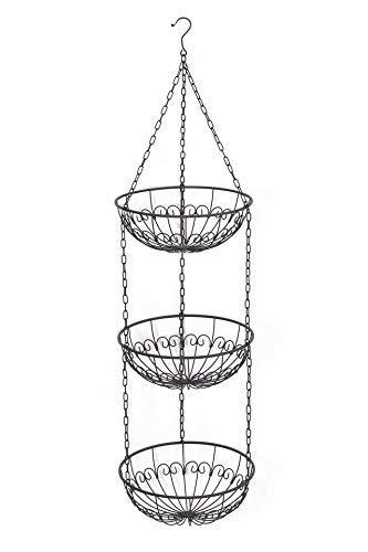 red 3 tier hanging basket - 9