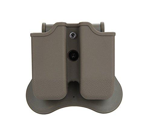 Tactical Scorpion Gear TSG-MPG3 Polymer Modular Double Magazine Pouch for Glock 17 19 22 23 26 27 31 32 33 - Dark - Bullets Glock 23
