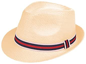 Enimay Vintage Unisex Fedora Hat Classic Timeless Light Weight 0197 - Beige S/M