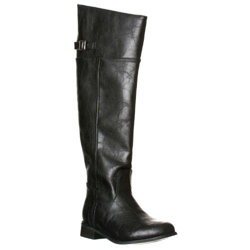 Breckelle's Women's Rider-82 Side Zip Thigh High Boots, Black, 5.5 Breckelles Rider 82 Fashion