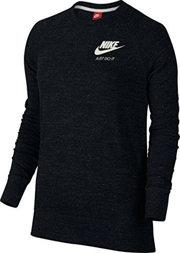 (Nike Gym Vintage Crew Top Black/Sail Women's Long Sleeve Pullover)