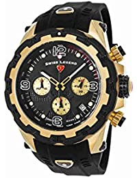 15250Sm-Yg-01-Bb Daredevil Chronograph Black Silicone And Dial Gold-Tone Ss Watch